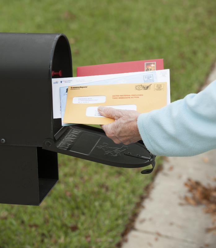 Census forms are typically mailed out.