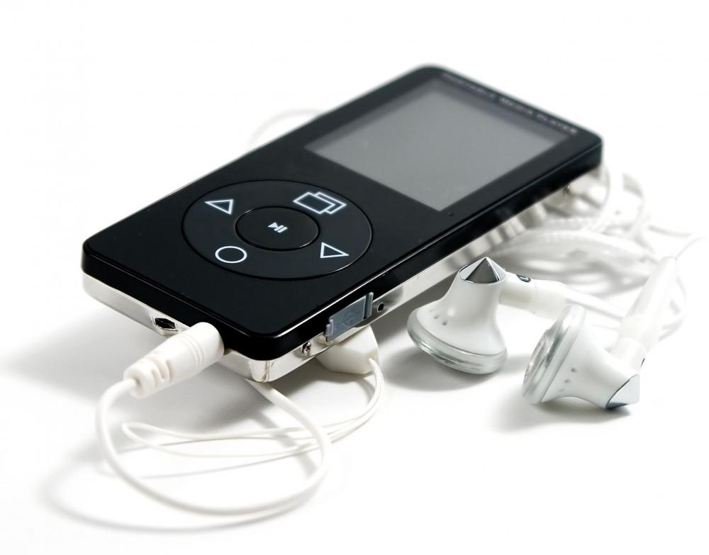 A portable media player, which holds digital files.