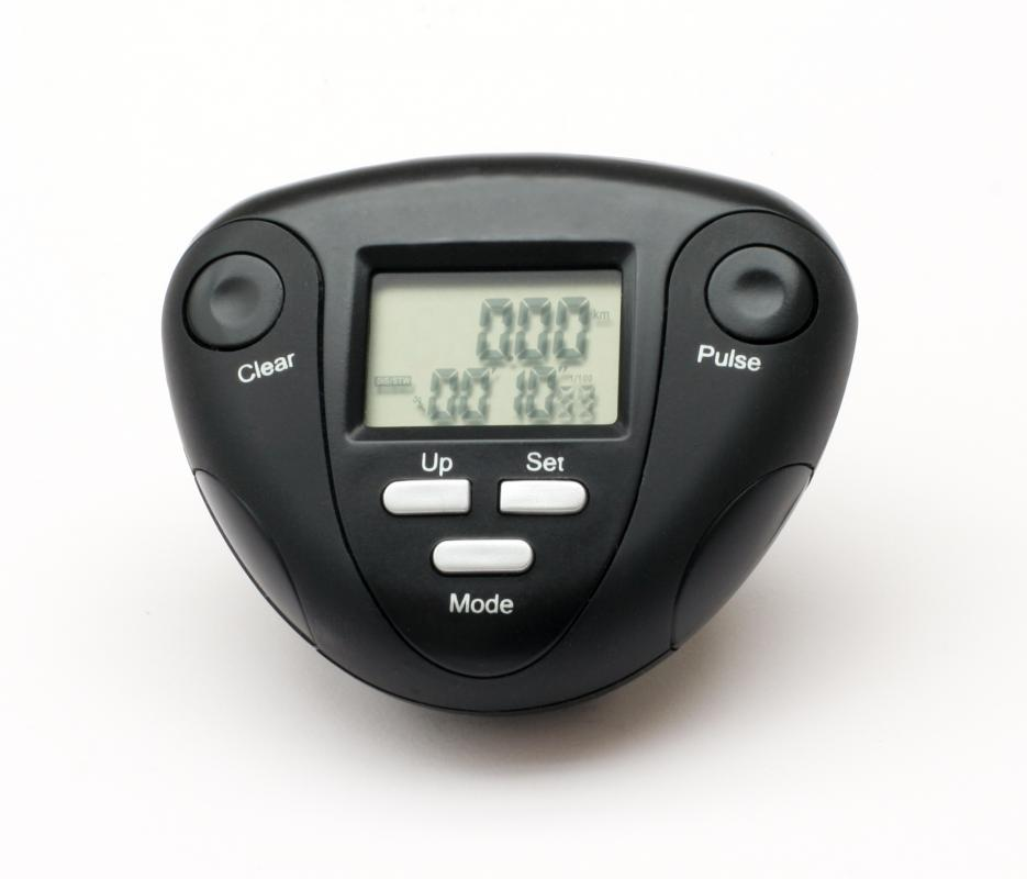 Wearing a pedometer can help you track  how far you walk every day.