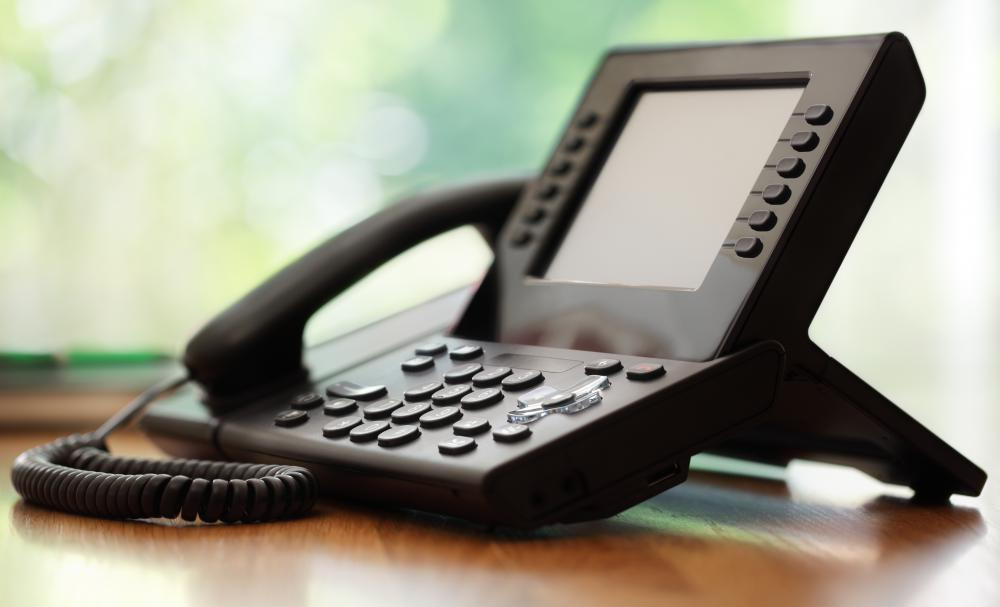 Teleconference phones may be used in home offices.