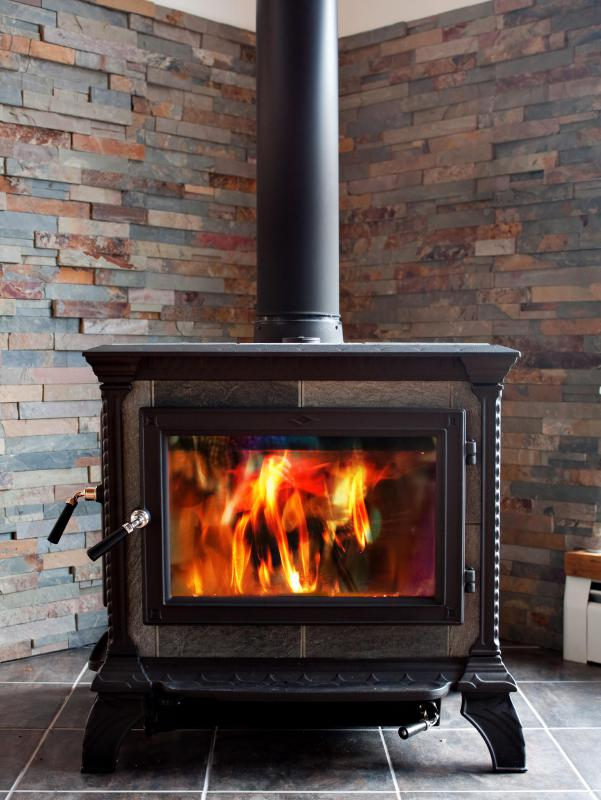 Wood stoves are both efficient and visually appealing.