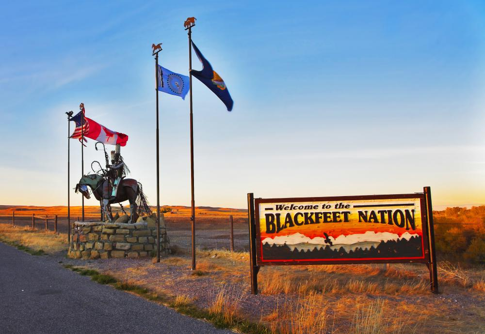 The original home of the Blackfeet Tribe was larger than the entire state of Montana.