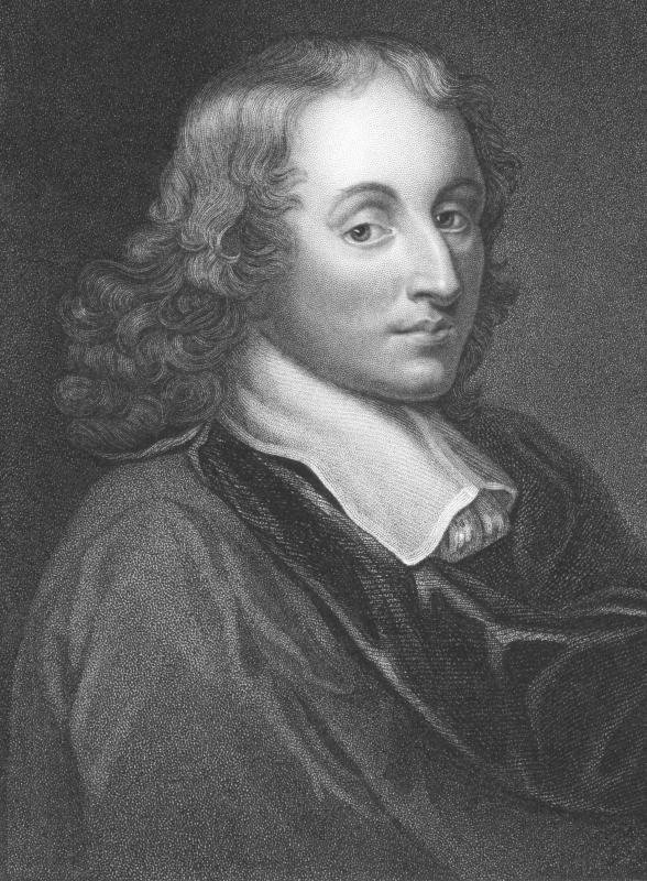 Blaise Pascal, inventor of a 17th century mechanical calculator.