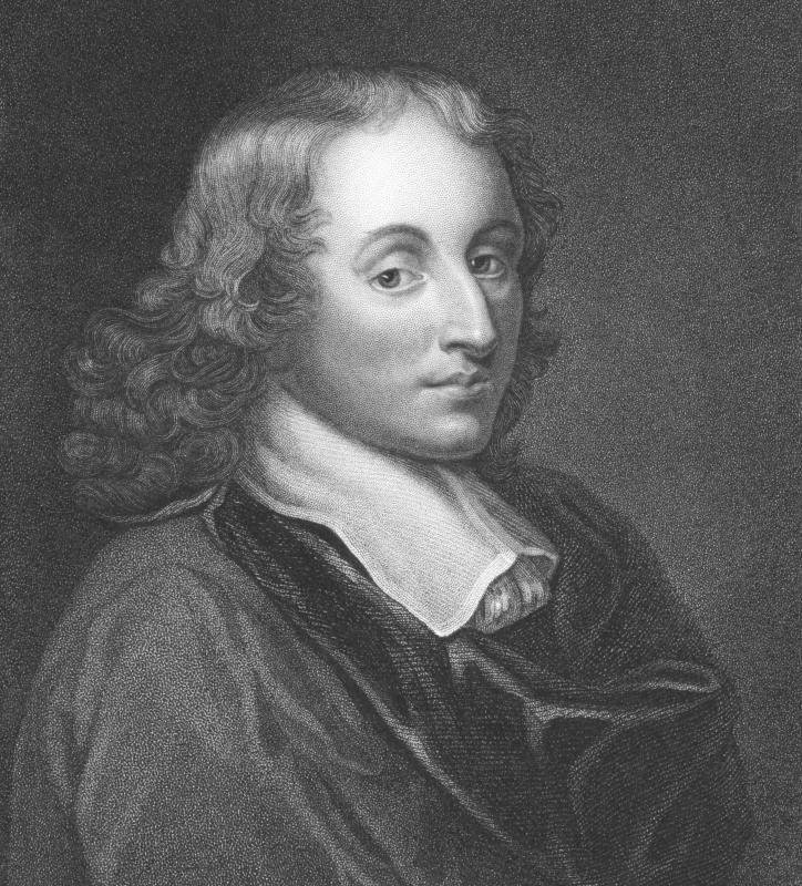 Floyd's triangle is often taught along with Pascal's triangle, invented by Blaise Pascal.