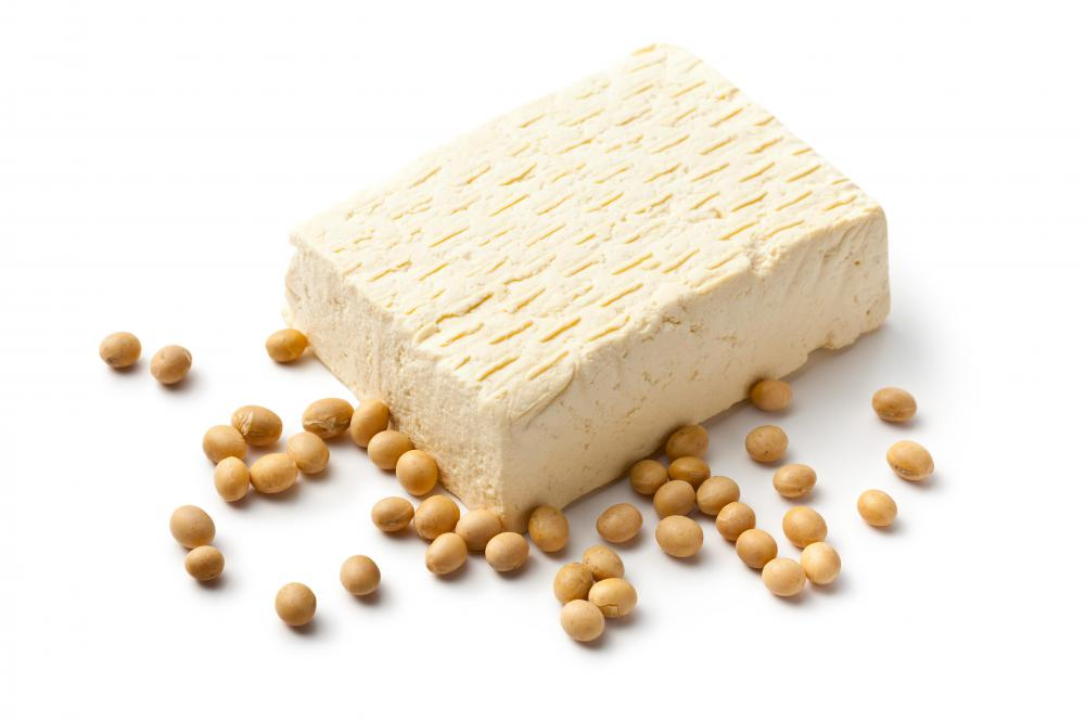 Tofu is a familiar product made from soybeans.