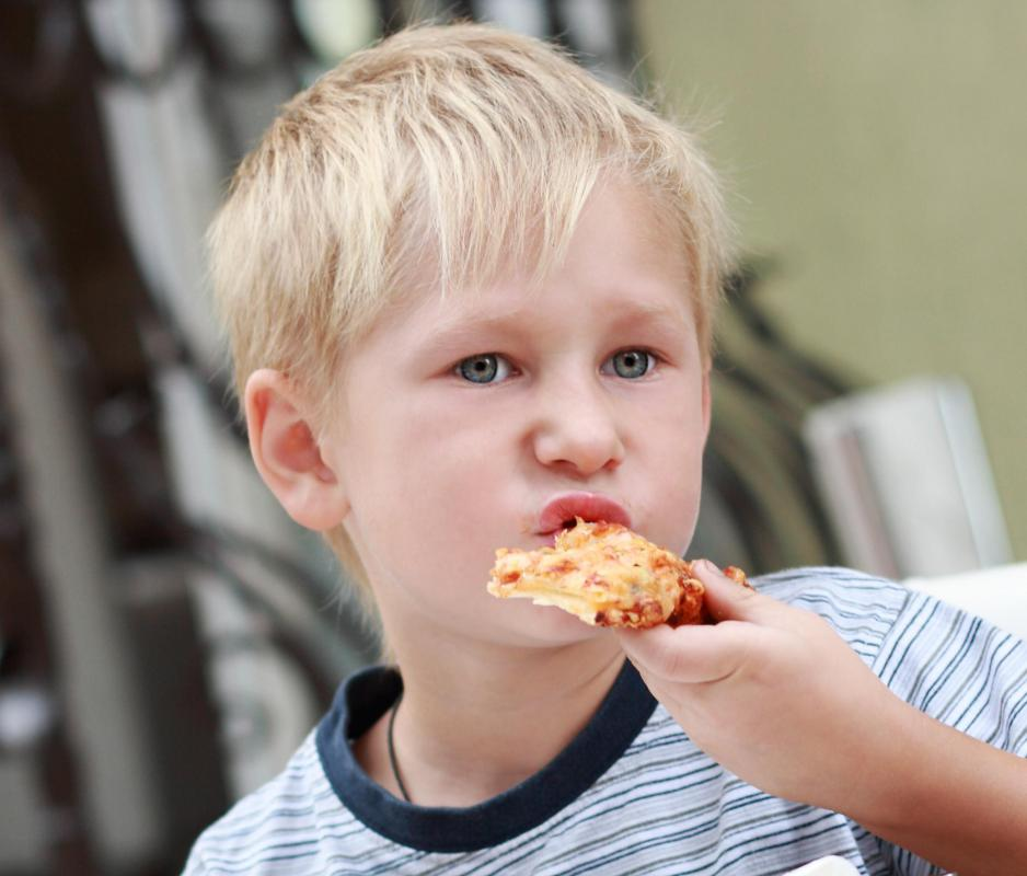 """They eat pizza"" is an example of the present tense."