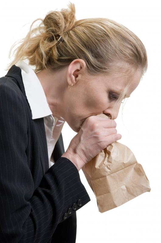 Breathing into a bag during hyperventilation may help return carbon dioxide levels to normal.