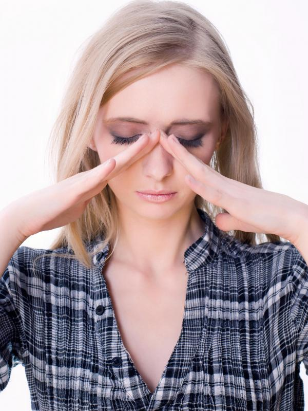Sinus headaches can result from exposure to airborne particles.