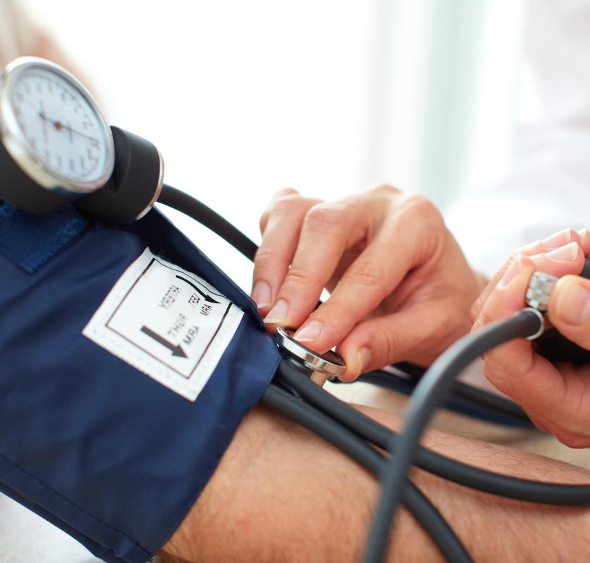 Blood pressure is one of the main tests in a fitness assessment.