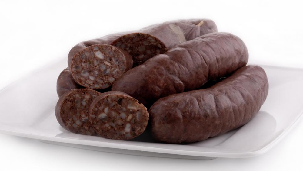 Blood sausage.