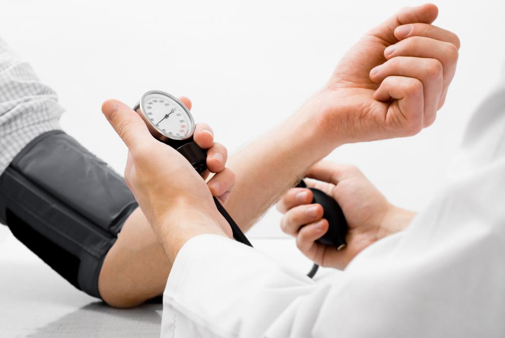 A donor's blood pressure is usually taken before they give blood.