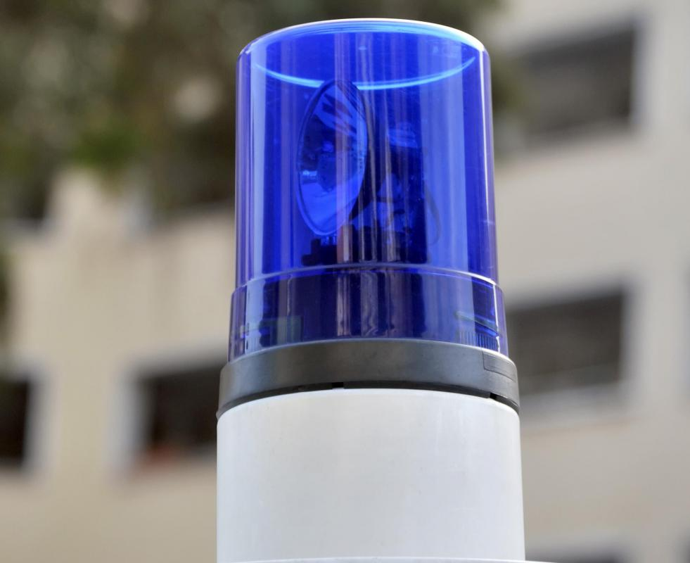 A flashing blue siren light, similar to the ones atop police cars, was commonly used during Kmart blue light specials.