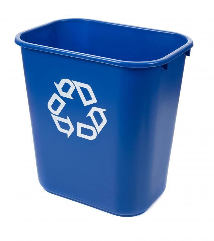 Green offices usually have several recycling bins for employees to deposit recyclables.