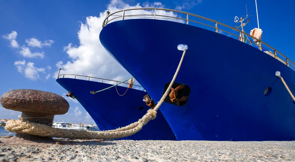 Rookie deckhands may be tasked with taking care of a ship's mooring lines.