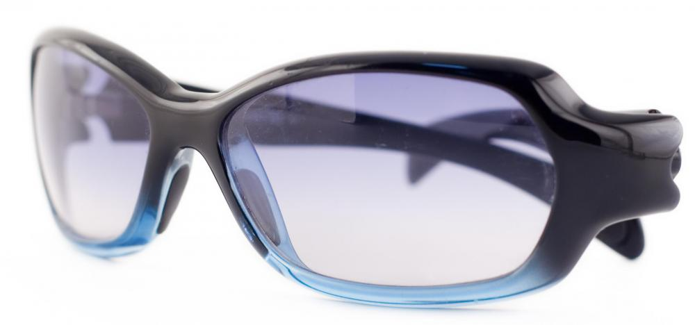 A pair of polarized sunglasses.