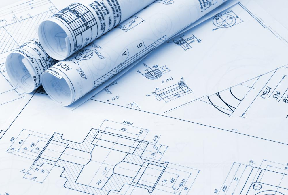 Architectural designers develop blueprints using computer-aided design and drafting programs.