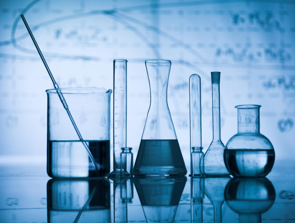 Beakers may be used in chemistry experiments.