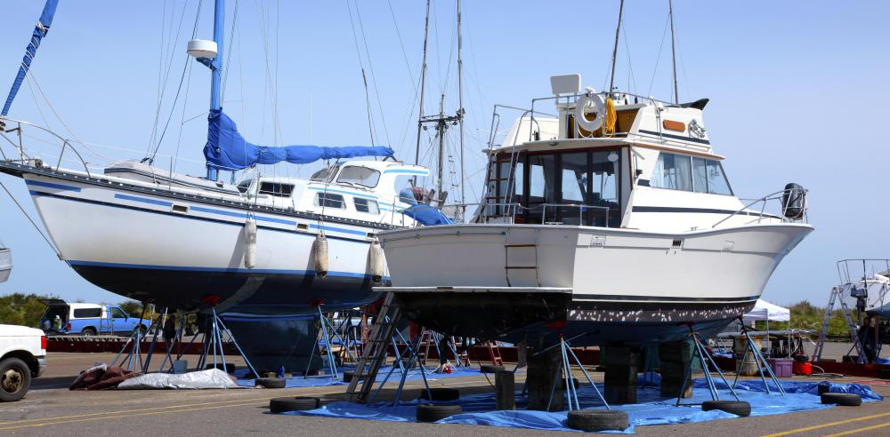 A marine electrician may be employed at a boatyard.