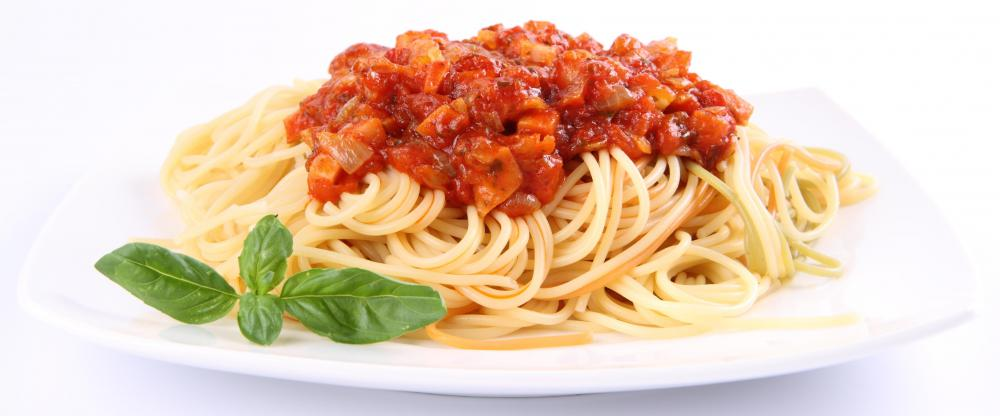 Spaghetti made with Crock-Pot® spaghetti sauce.