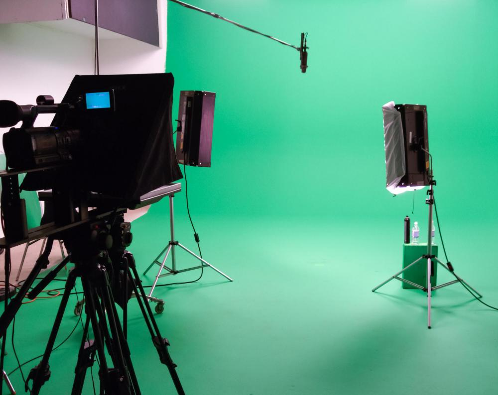 With chroma key, an actor or presenter is recorded in front of a blue or green backdrop.