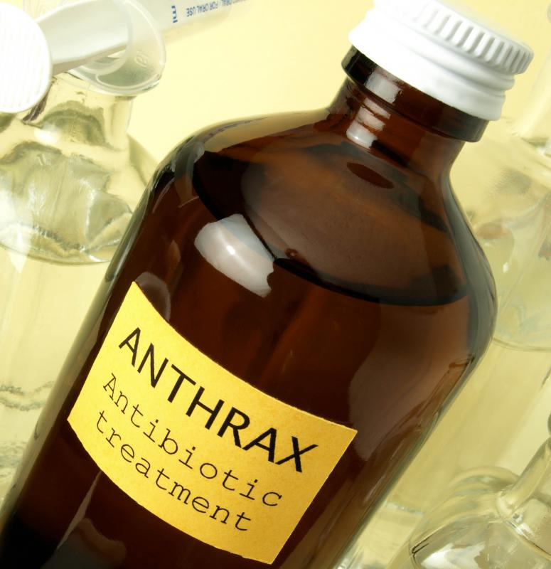 Ciprofloxacin may be necessary to treat anthrax.