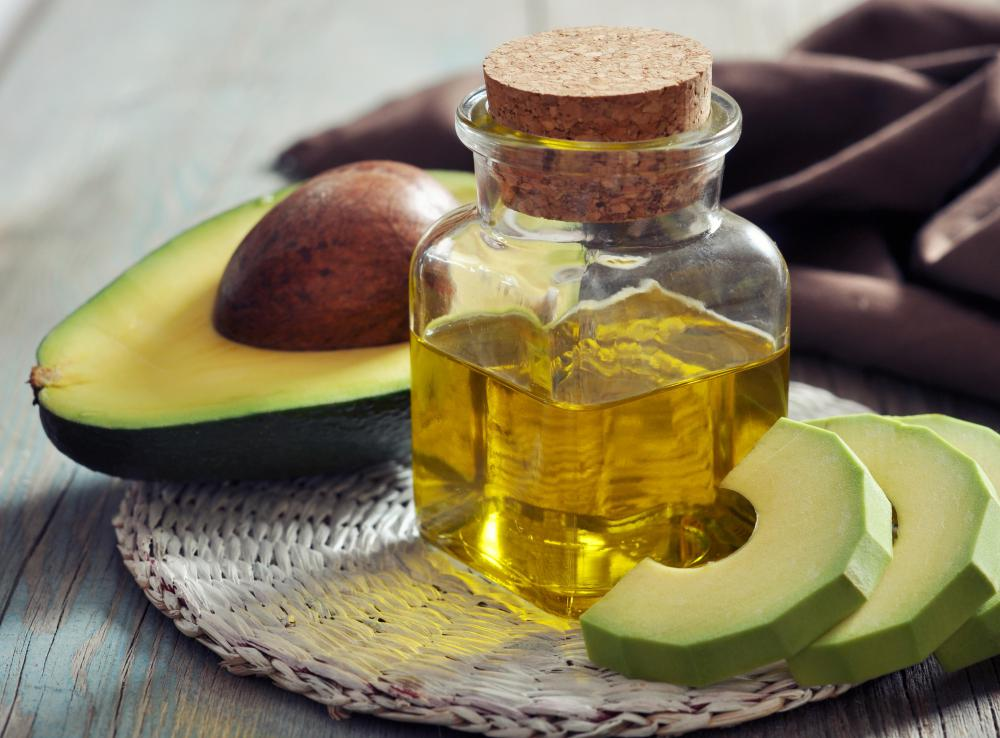 Avocado oil is used in some shower gels.