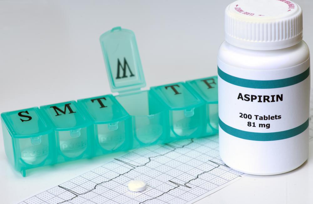 Many people take aspirin on a daily basis to help inhibit blood clotting and reduce the chance of a heart attack.