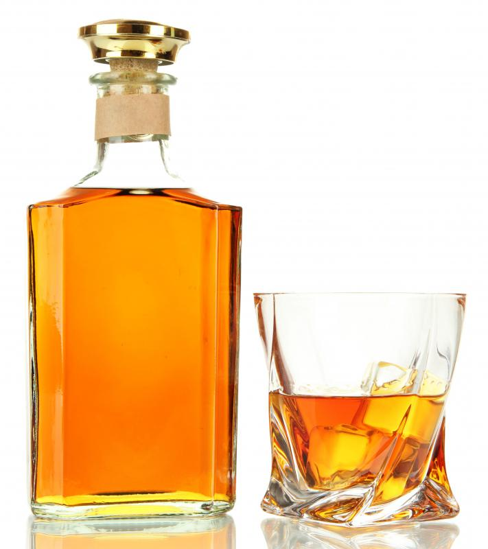 Distilled whiskey must age for seven years so that the initial 190 proof alcohol content can evaporate down to a palatable 86 proof.