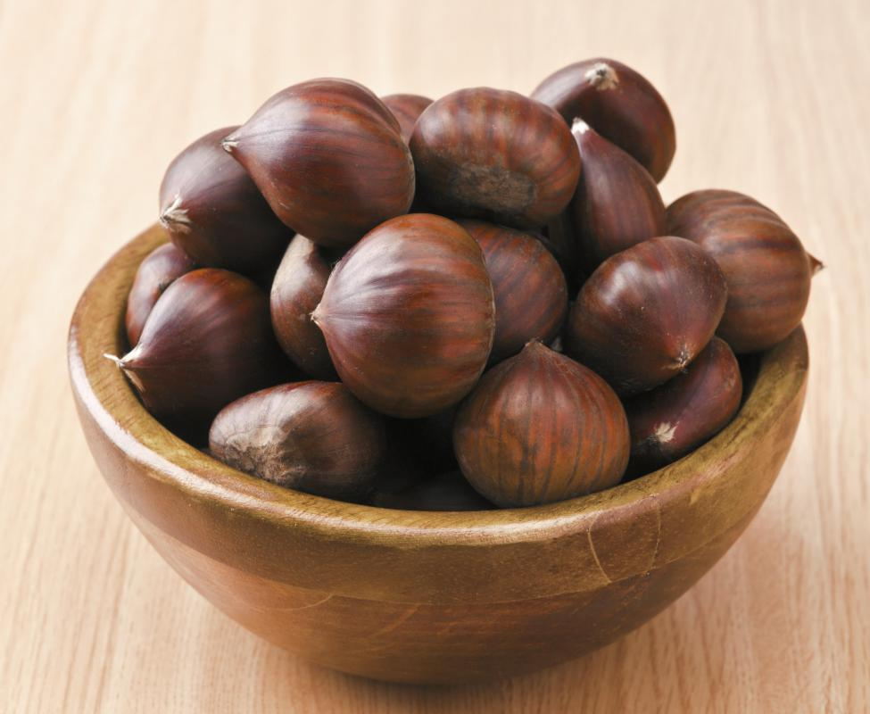 Chestnut flour is made from ground chestnuts.