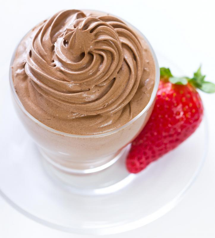 Unbaked merginue can be used to fluff up a dessert mousse.
