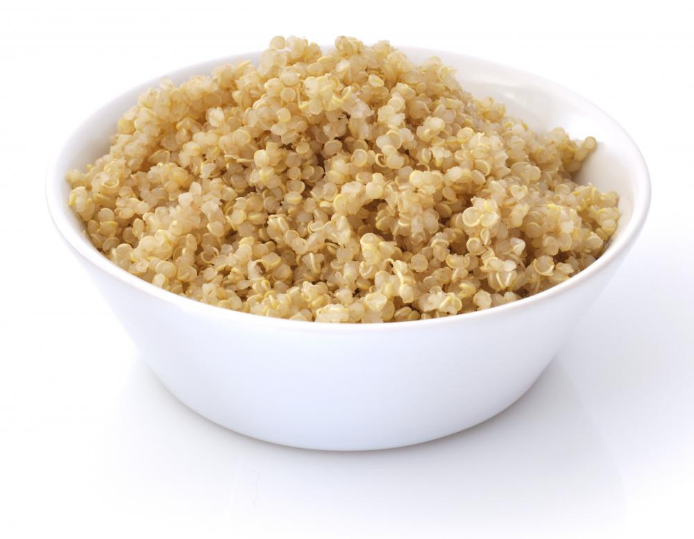 Quinoa is high in protein.