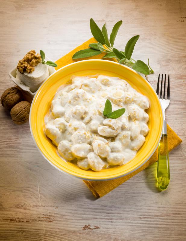 Gnocchi is served in a manner similar to pasta.