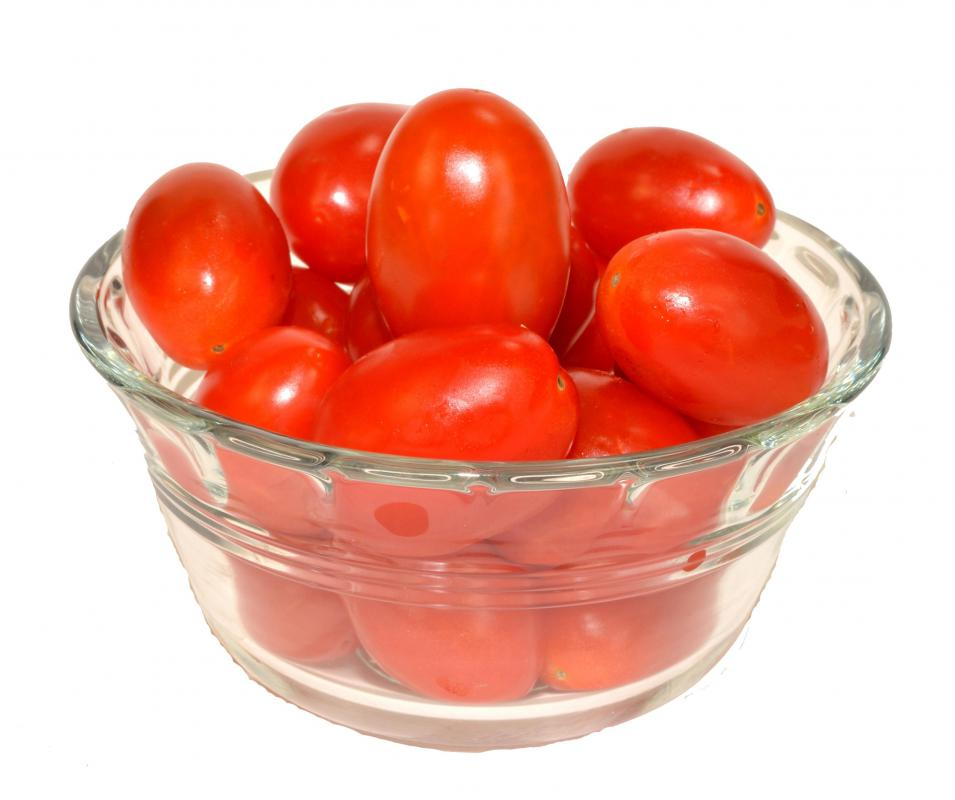 Grape tomatoes are a small tomato variety.