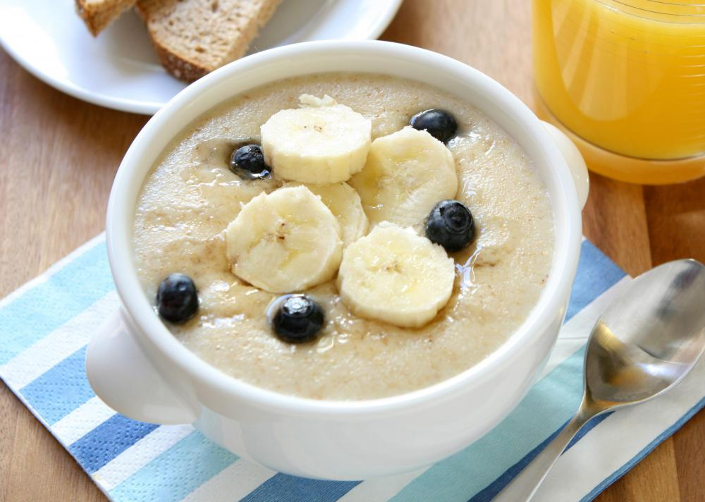 Oatmeal may be consumed by a child at about six months of age.