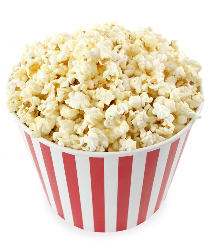 Popcorn is a popular salty snack.