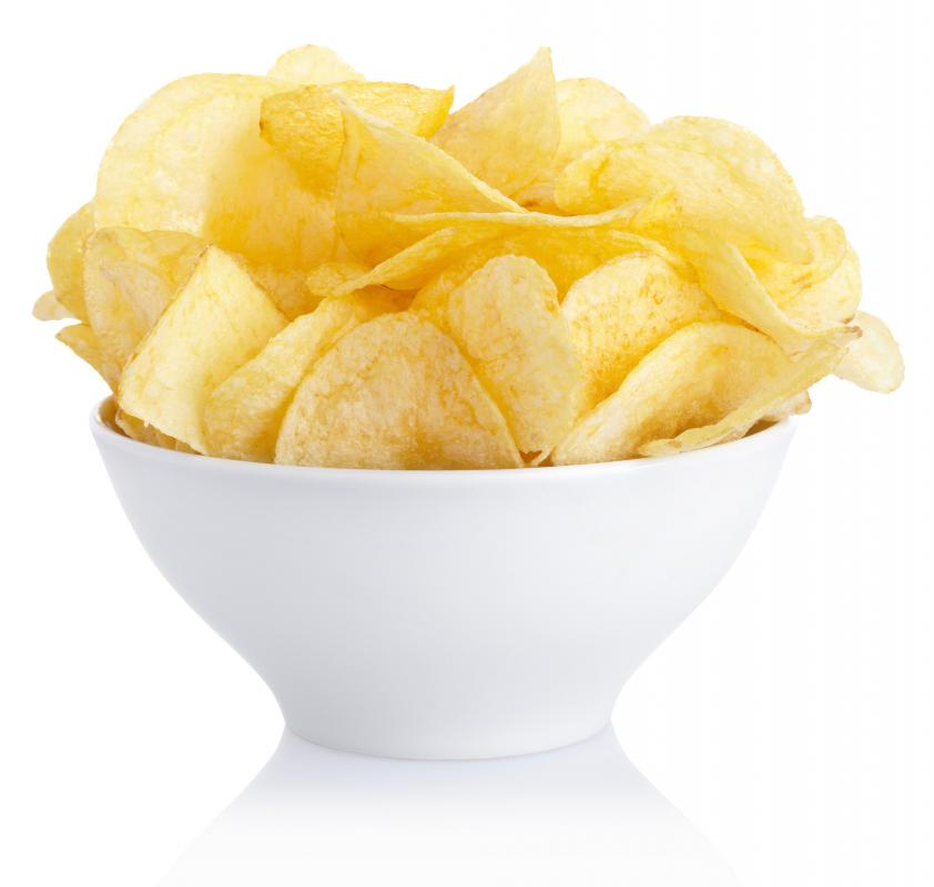 Potato chips are high in fat and calories but offer little nutritional value.