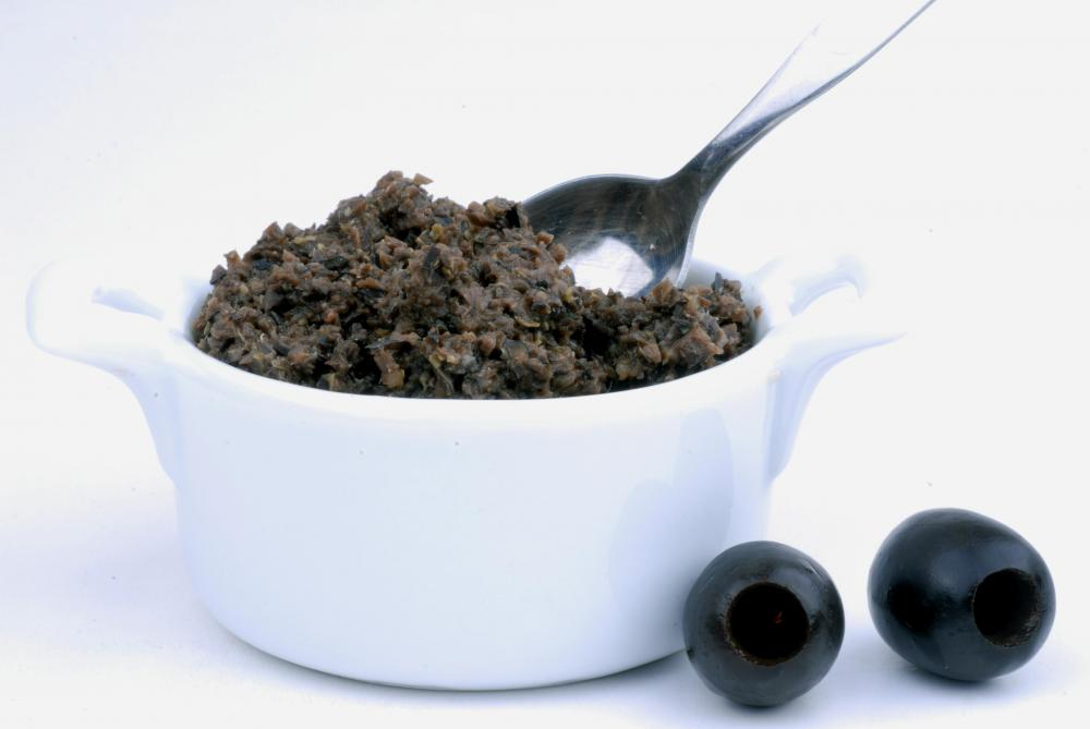 Olive tapenade made with black olives.
