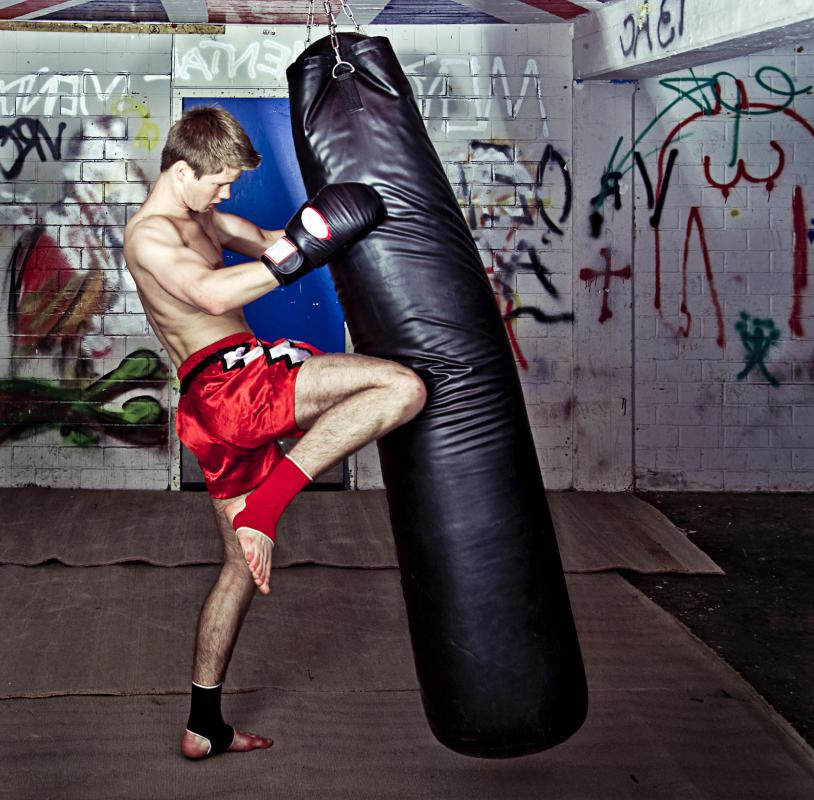 Using kickboxing moves with a punching bag might provide an intense and varied workout.