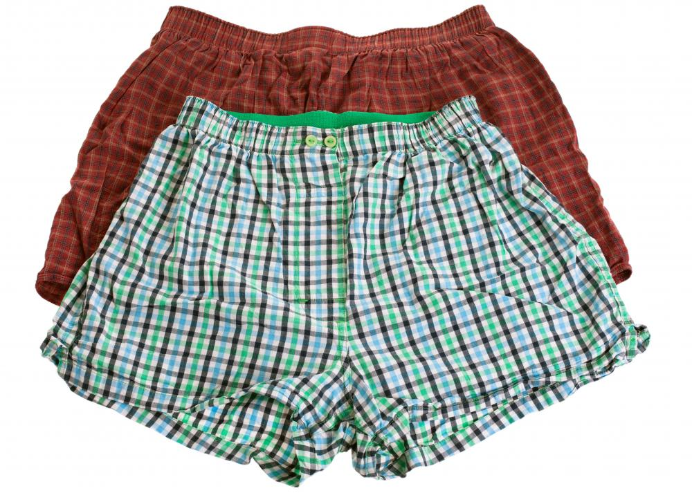 Boxer shorts are loose-fitting men's underwear.