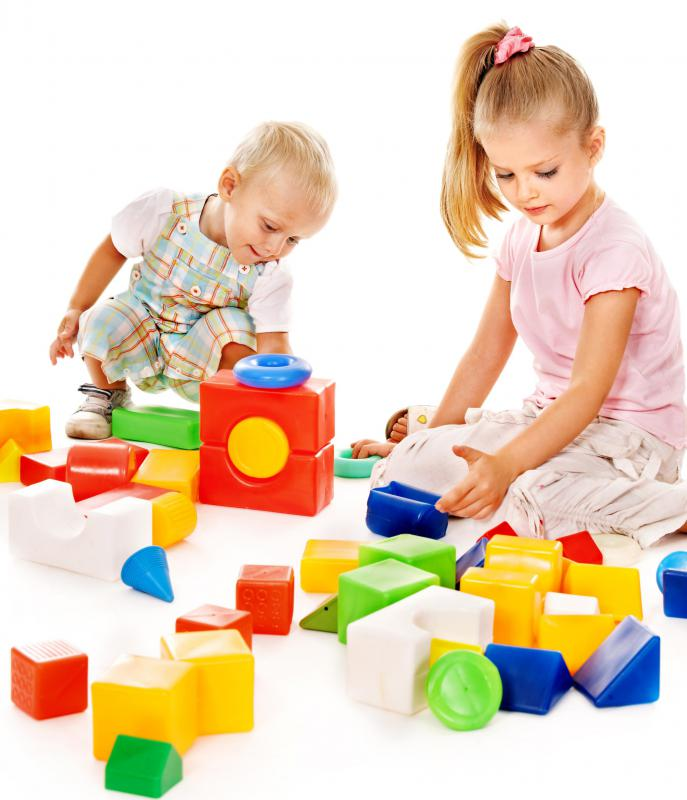 Building blocks help children develop their spatial abilities.