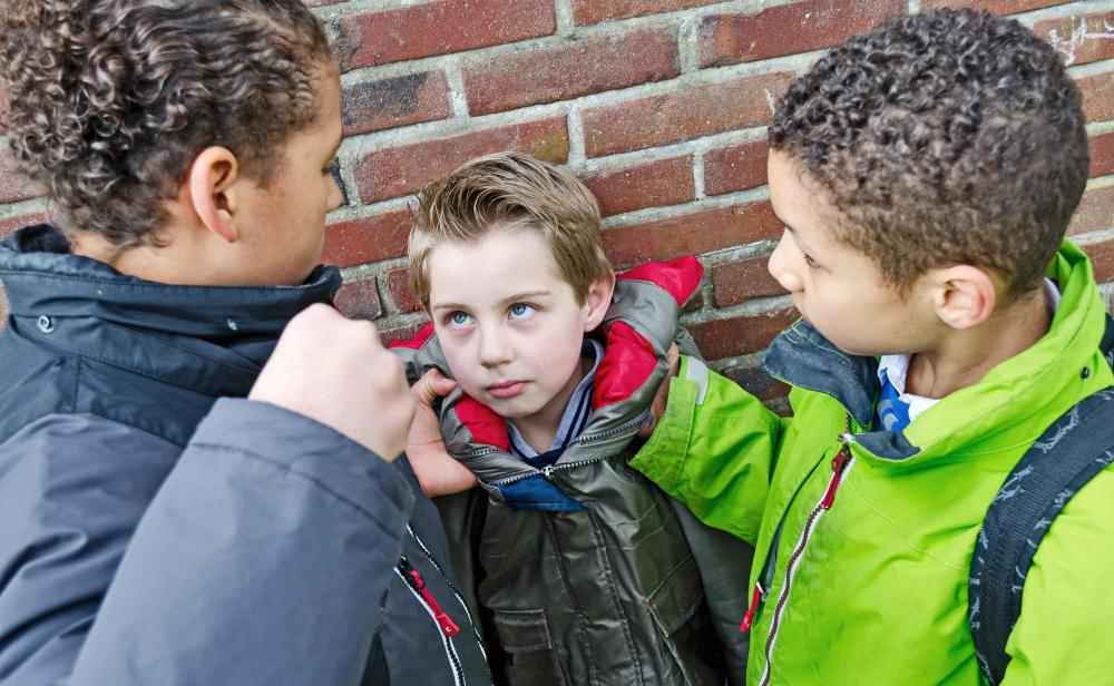 Parents should make sure a child knows he is not at fault when he is bullied.