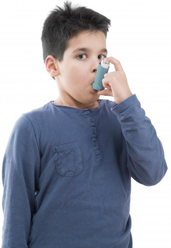 Untreated car exhaust is believed to contain high levels of volatile organic compounds, which possibility contributes to childhood asthma.