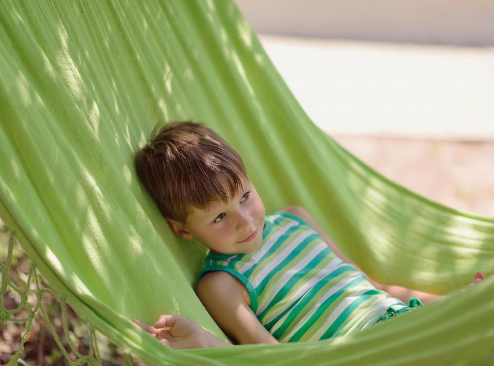 Ideally, a tree hammock should be strung up in an area that falls directly under the shade of the trees.