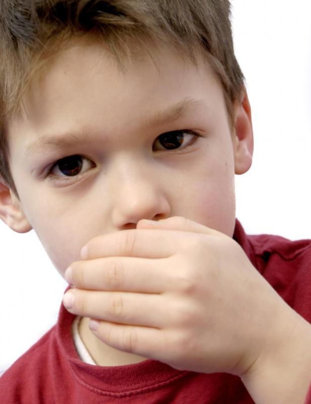Signs of a measles infection may include coughing.