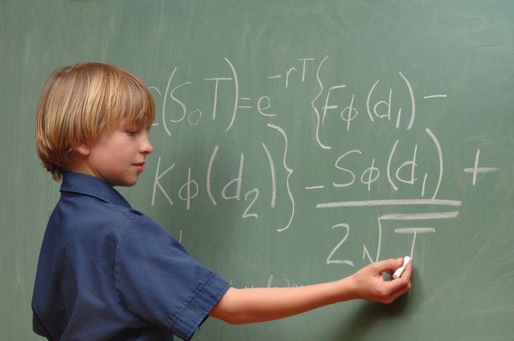 A placement test may offer insight as to where a student ranks in terms of math.