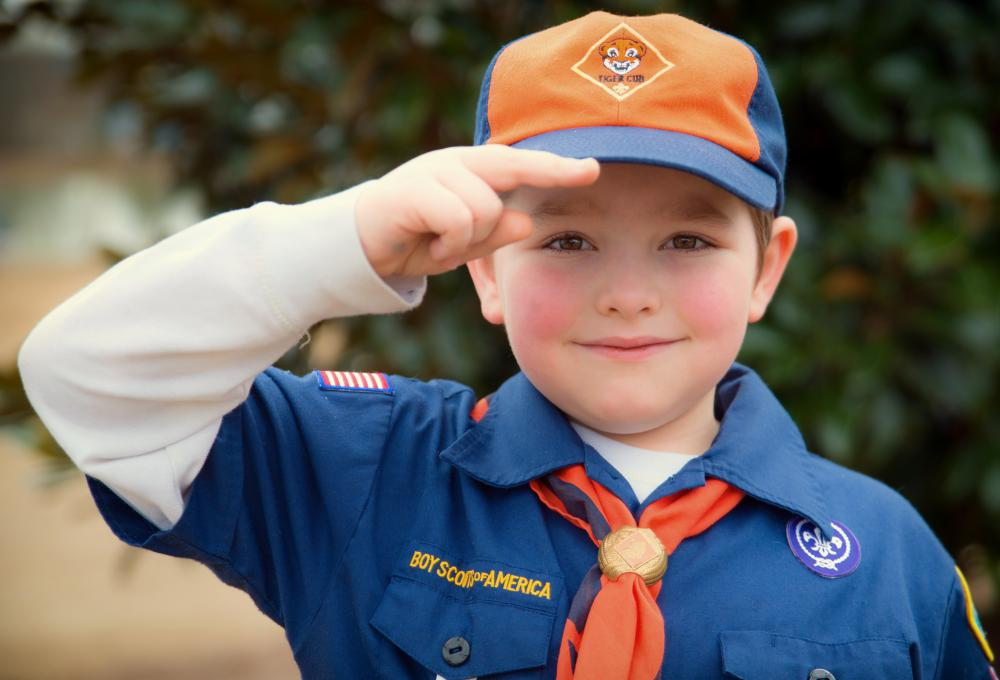 Boy Scouts emphasize both leadership and cooperation.