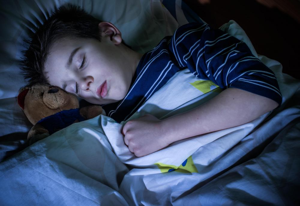 A doctor might look for large tonsils in children when diagnosing sleep apnea.