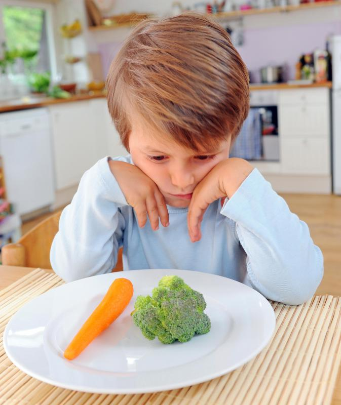 Children who have anorexia are often exceedingly picky about the foods they eat.