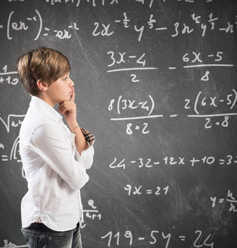 Children may be taught algebra in middle school.