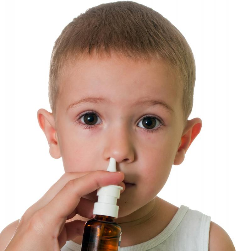 Saline nasal sprays, which consist mostly of a salt-water solution, are safe for children to use.